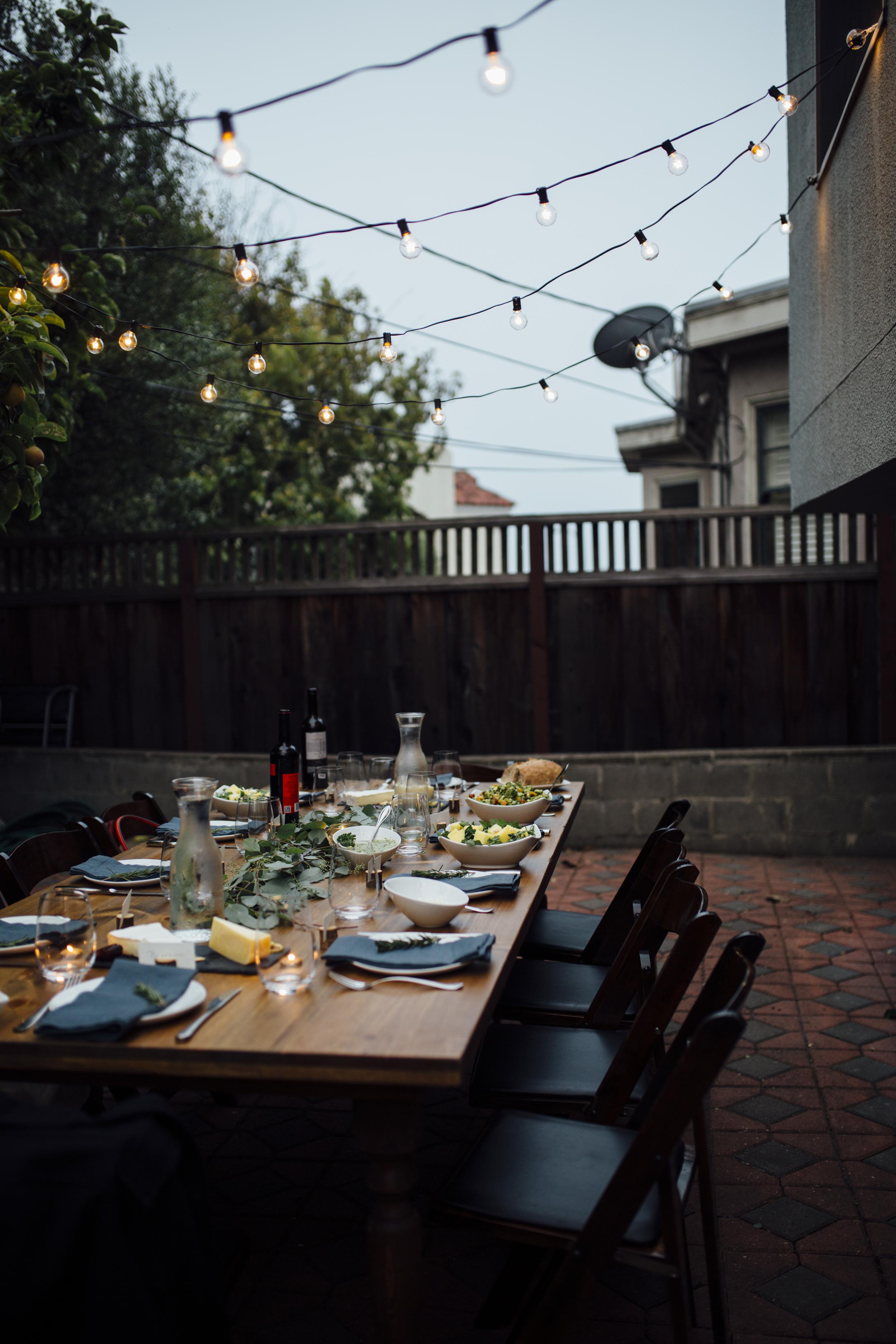 Intimate Backyard Dinner Party   Styled Shoot   Nataly Zigdon Photography   San Francisco