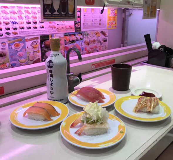 Sushi Train - Order sushi using a touch panel system and watch your sushi arrive on a train! There are so many types of sushi you can order, everyone is sure to find something they like!