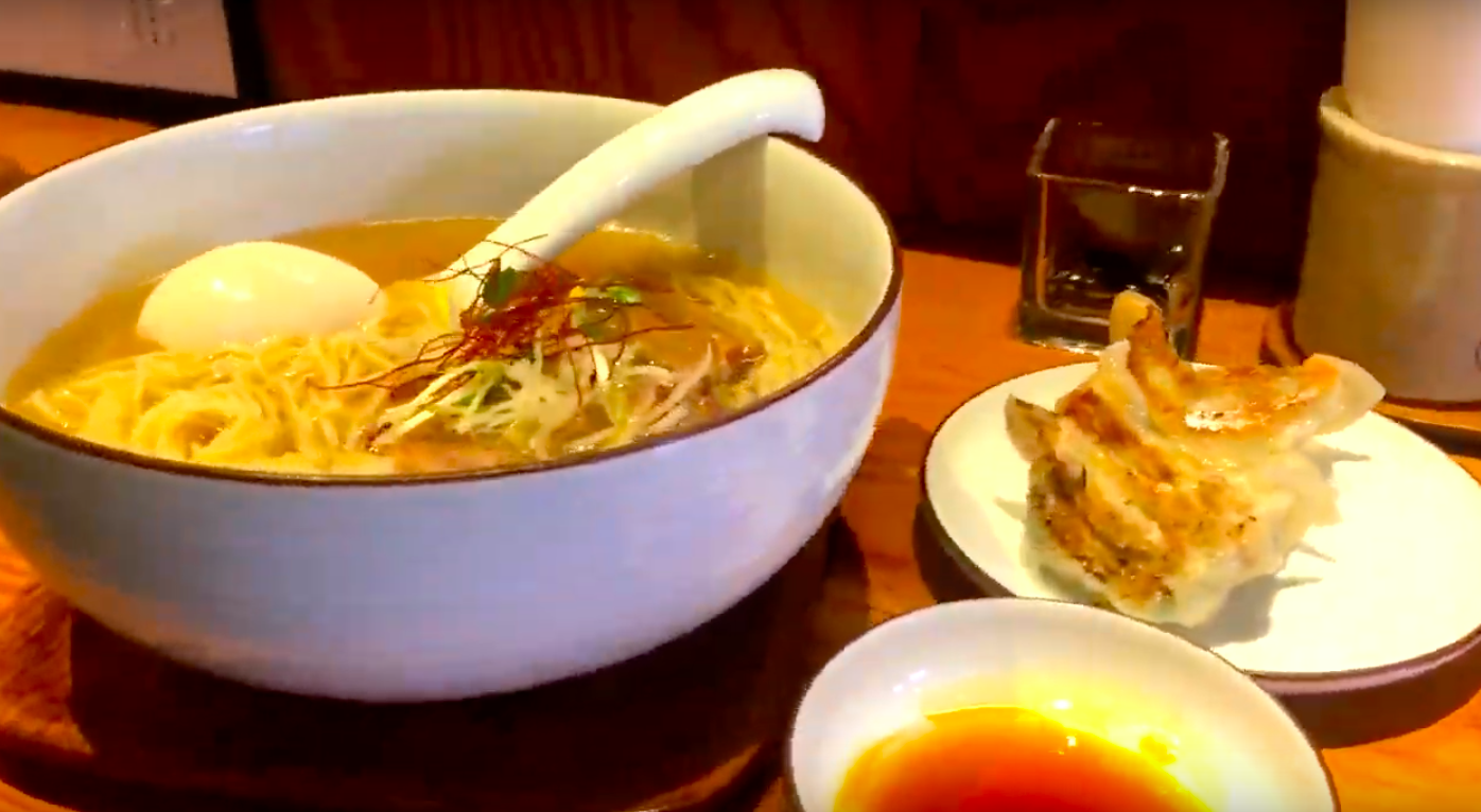 Ramen & Gyoza - Blend of tasty Fish and Chicken broth
