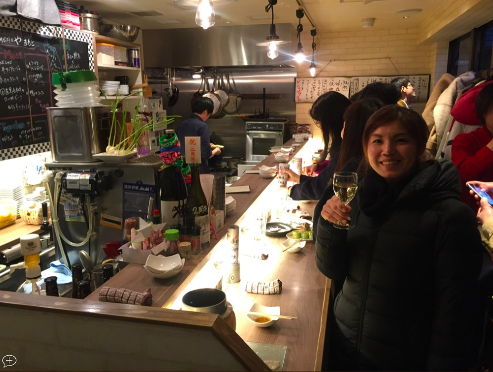 Standing Bar - You can try sake and Japanese wine