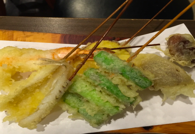 1st place: Tempura - You will try…Various type of tempura, Edamame & Drink of your choice!
