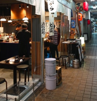 Tempura place - In a small alley