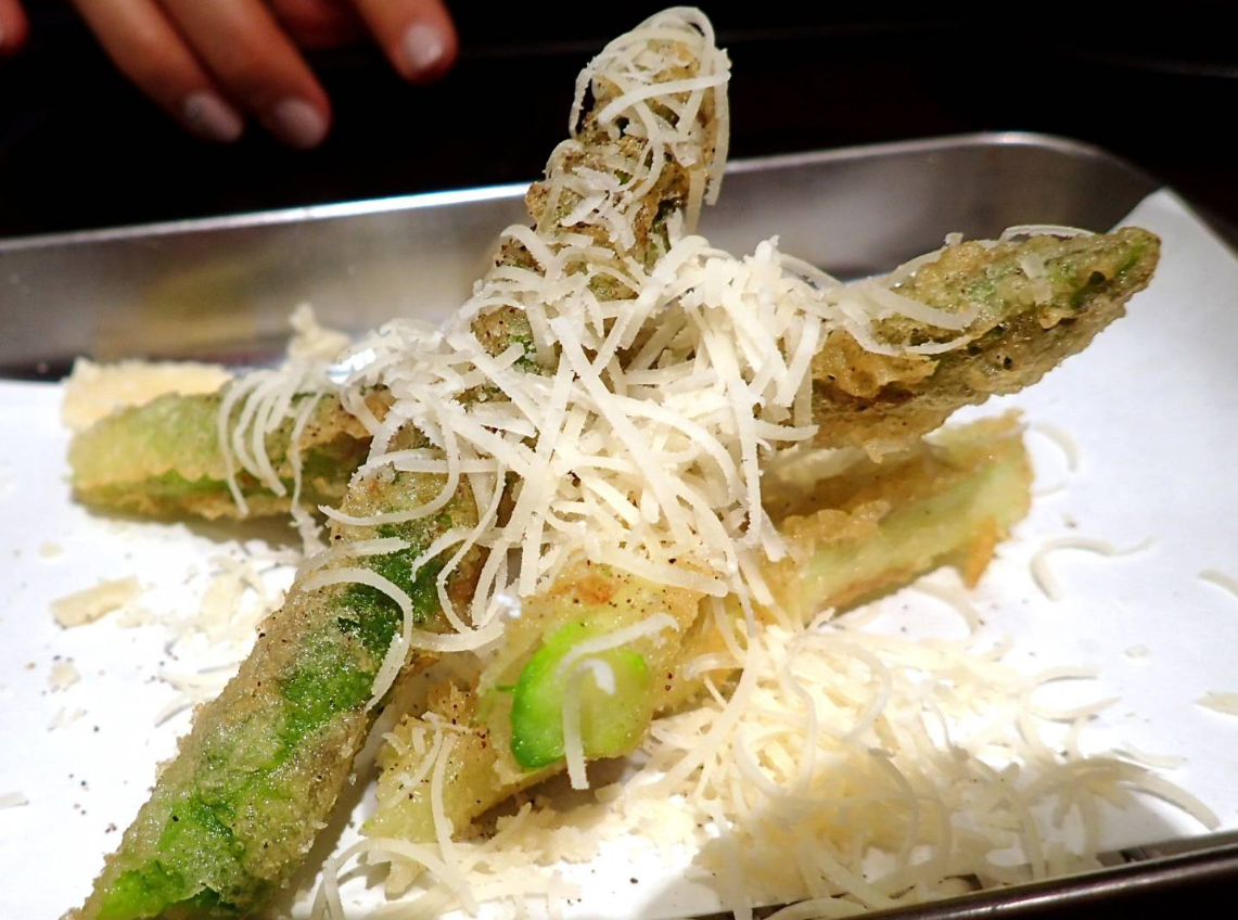Tempura place - Asparagas & Cheese on the top