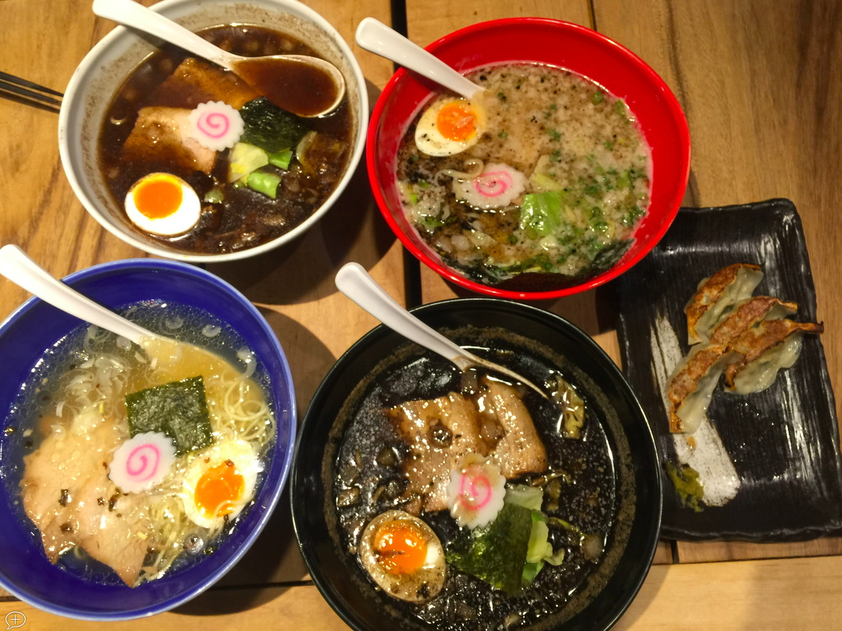 Ramen - 4 different flavors. All very different and good! Hard to choose what to order…
