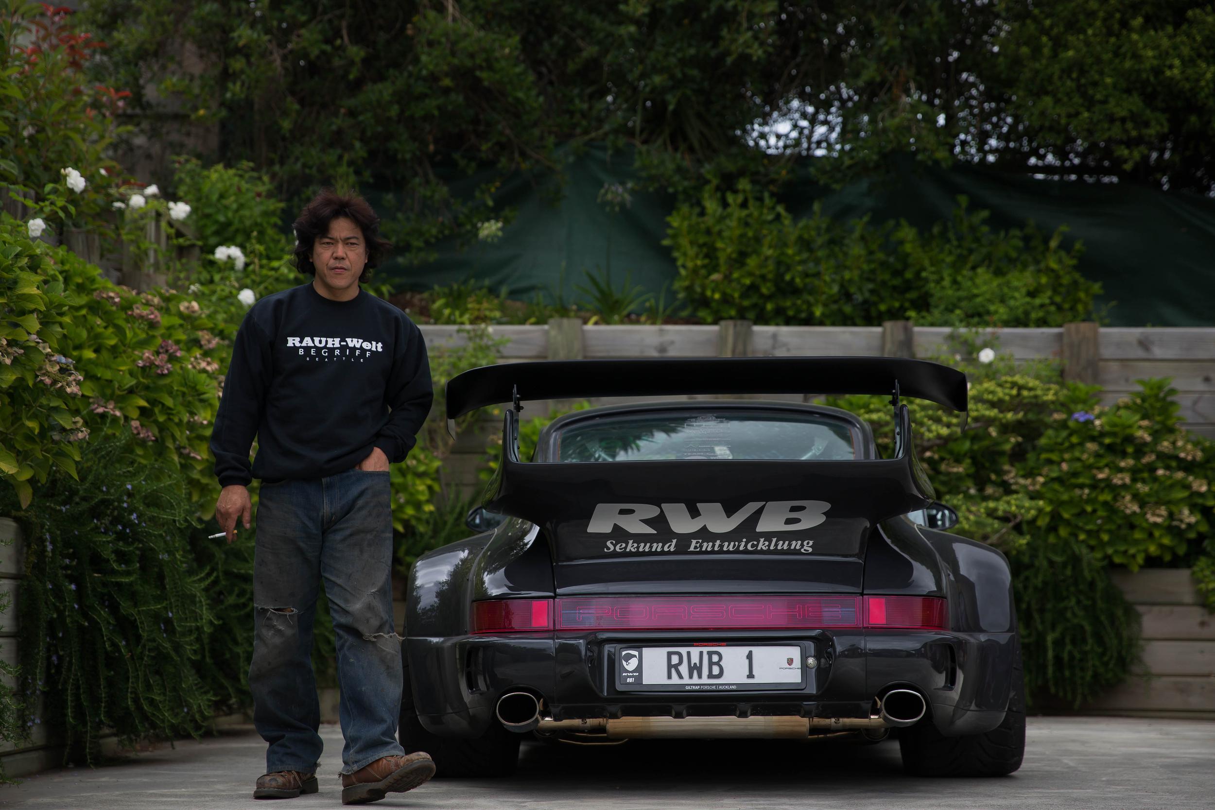 "Nakai-san with New Zealand's first RWB ""Waikato""."