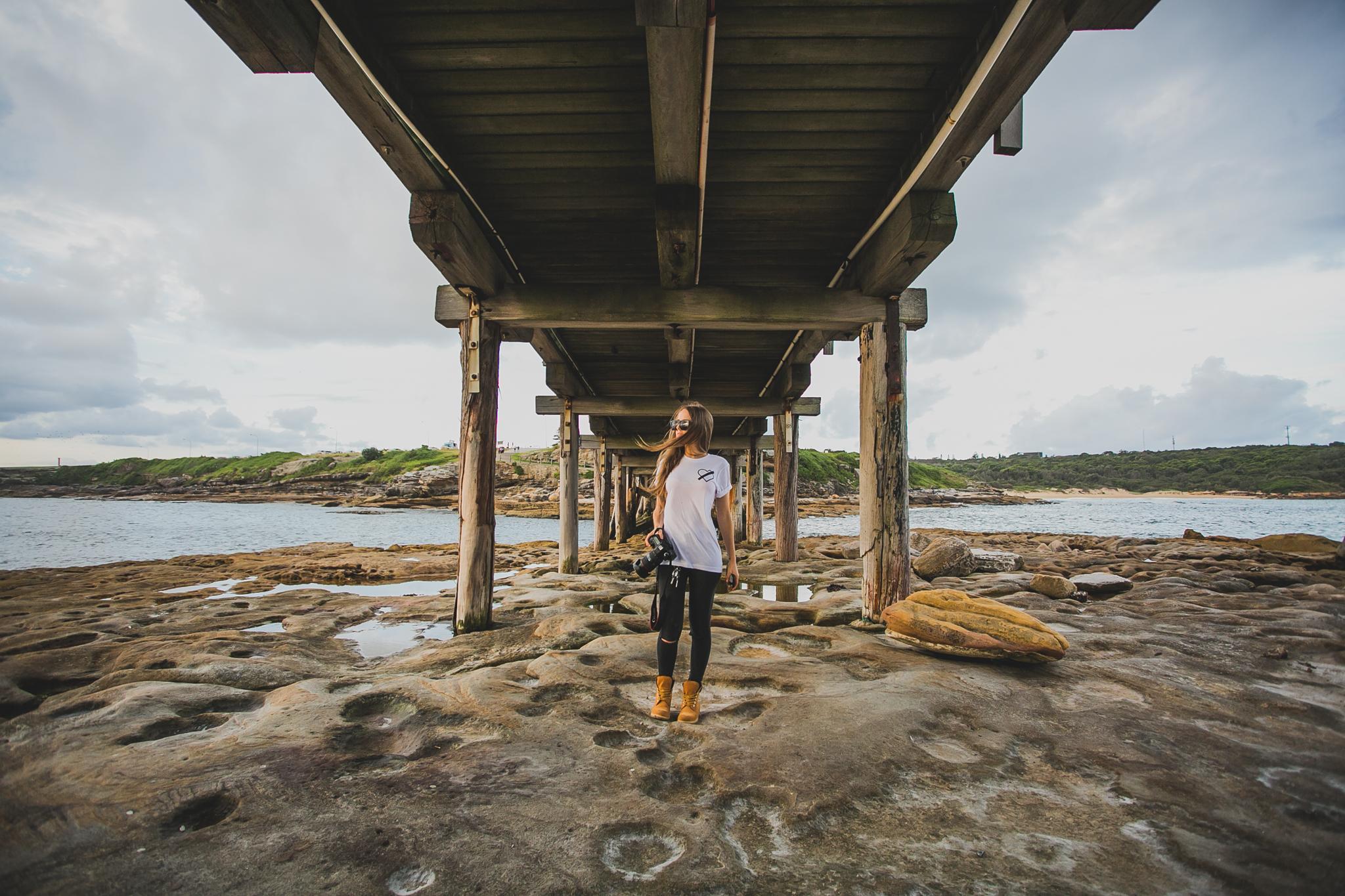 Under the bridge at Bare Island - Photo by Gus Medero