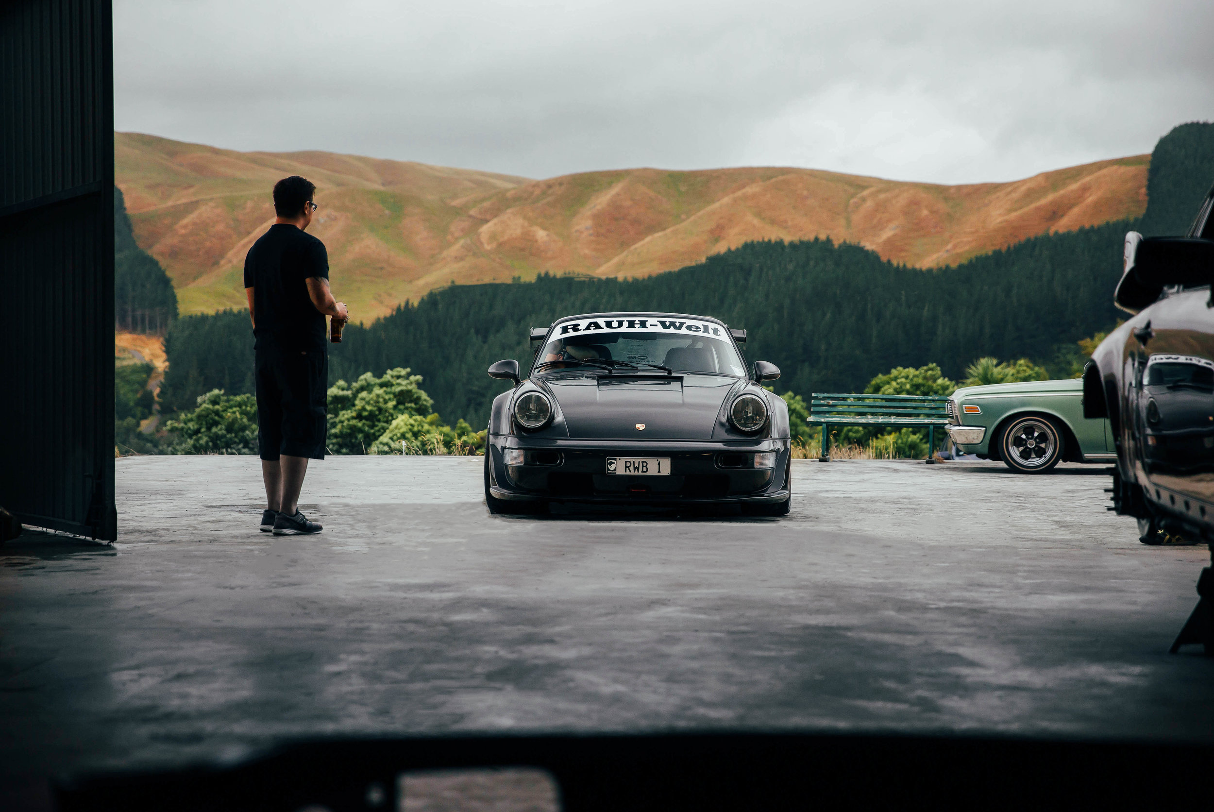 One of my favourite photos of Christian and 'Wakaito'. This was taken in the early hours of the RWB NZ build.