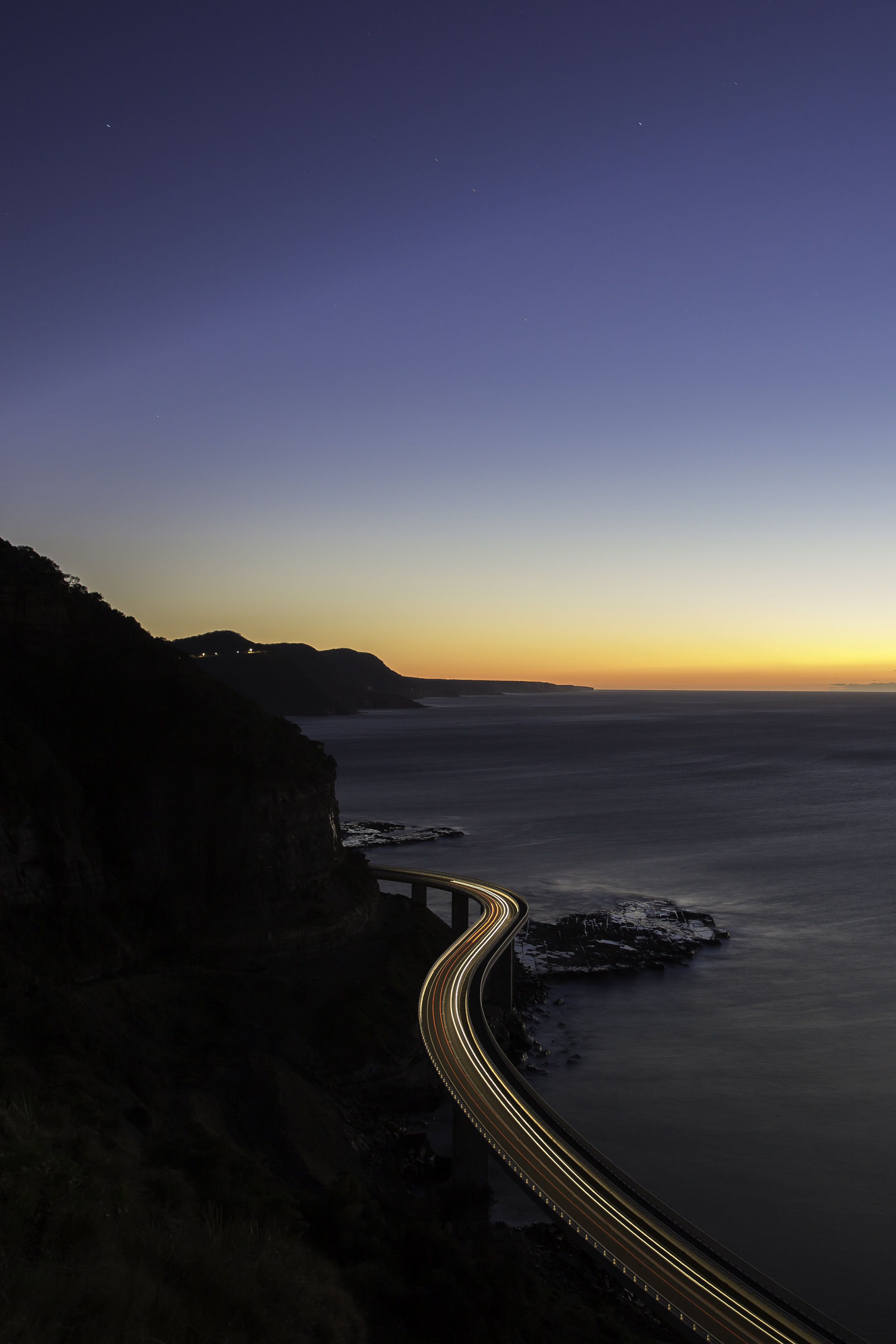 My favourite shot of the Sea Cliff Bridge. This was my first ever time taking a long exposure and I was so surprised at how it turned out!
