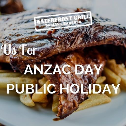 We are open for the ANZAC Day Public Holiday. Join us  #waterfrontgrill
