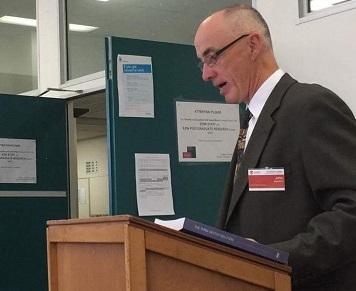 Dr Butcher addresses the conference