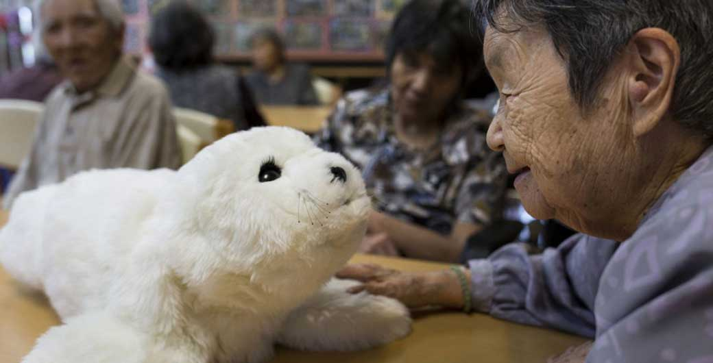 Paro, developed to help dementia patients (image source:   Toronto Star  )