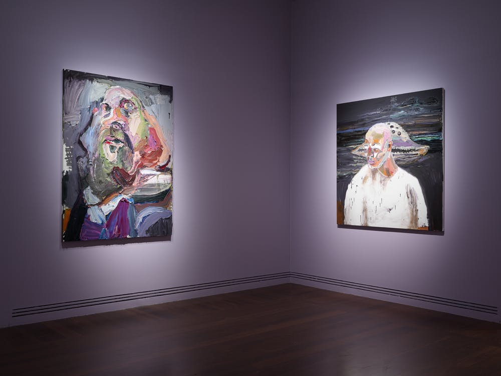 Installation view: Quilty featuring Self Portrait, the executioner and Myuran by Ben Quilty, Art Gallery of South Australia, Adelaide, 2019. Photo: Grant Handcock.