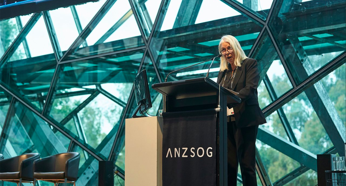 Professor Marcia Langton AM at the  Reimagining Public Administration,  photo credit to ANZSOG