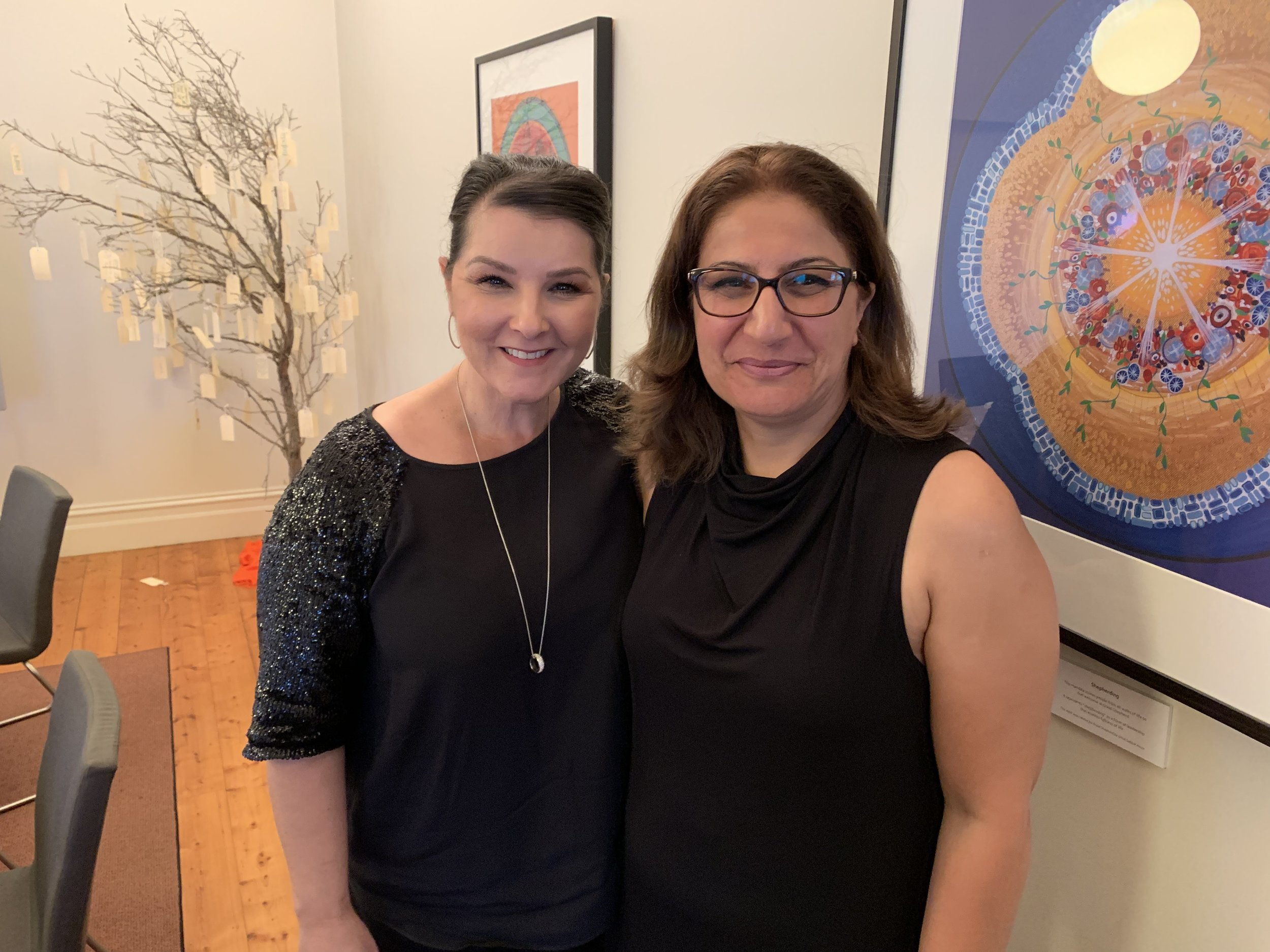 Learning from a different approach to forced marriage: Danish practitioner Farwha Nielsen (R) pictured with Good Shepherd Australia New Zealand CEO Stella Avramopoulos. Photo credit Laura Vidal.