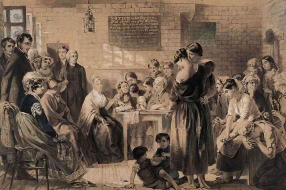 """Australia's colonial settlement period relied heavily on criminalising women. Deborah Oxley says, """"Female convicts were predominantly young, single women who had been domestic servants and/or who had come from a semi-skilled background - such as an apprenticeship. The majority of female convicts were first time offenders sentenced to transportation for minor theft"""" (  Convict maids   1996, pp. 42-48).  Photo credit: National Library of Australi a."""