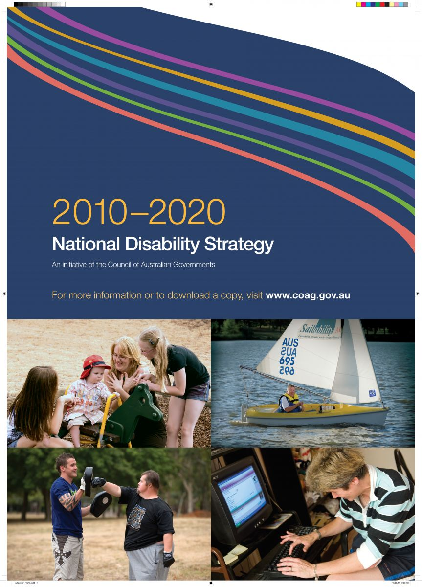 Cover page of the current National Disability Strategy, 2010-2020
