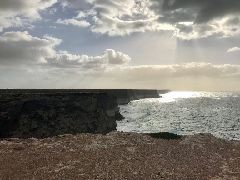 On the Nullarbor, views of The Great Australian Bight