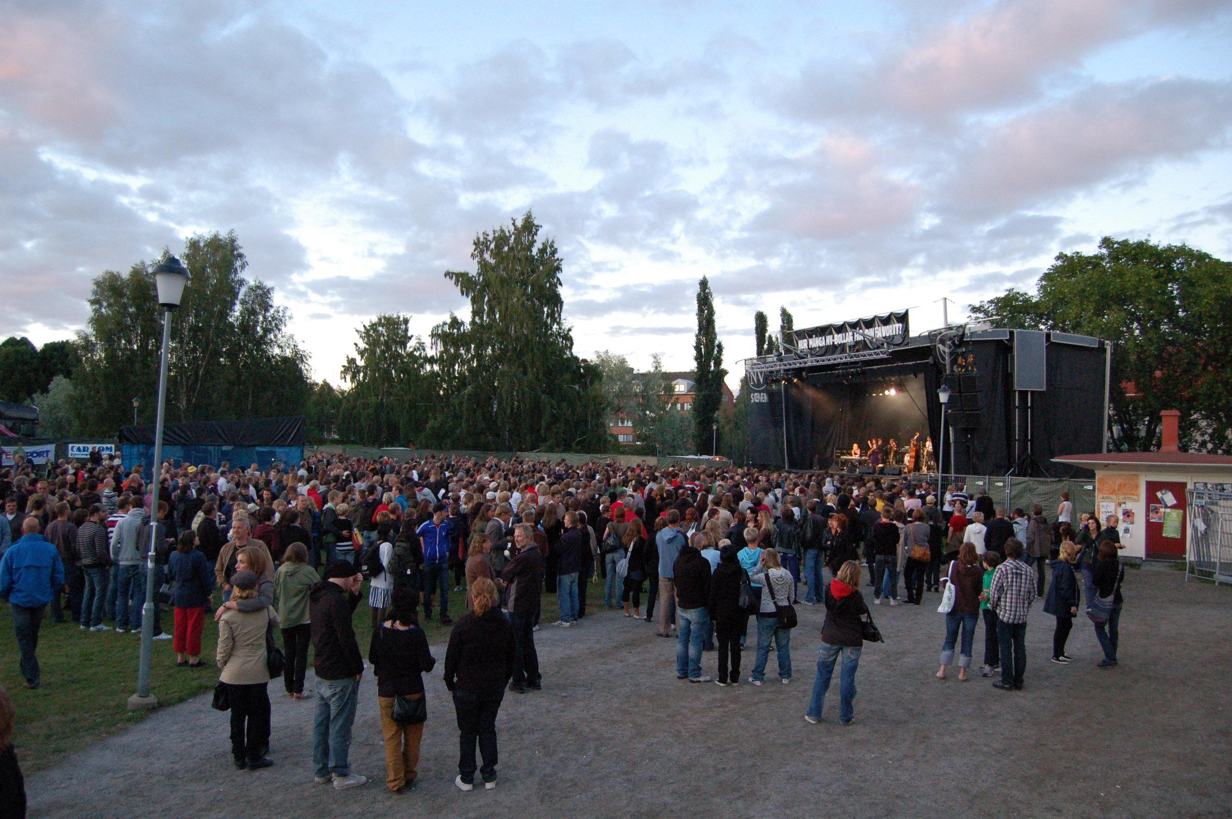 Trästockfestivalen 2012, stora scenen!