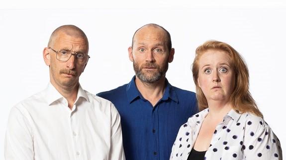 Turboteatern leds av skådespelarna - David, Niklas och Linda!
