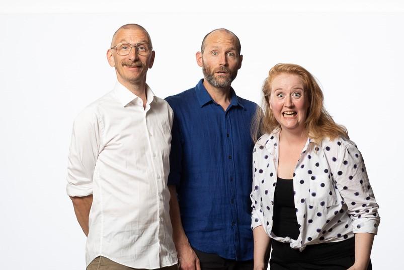 Ledarna för Turboteater  - David, Niklas och Linda från Ung Hästen!