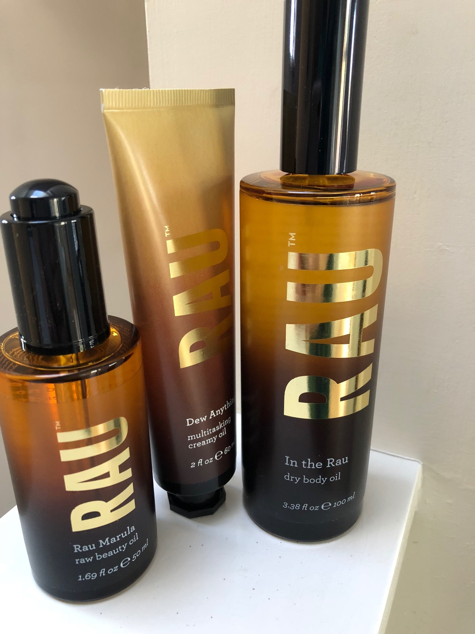 RAU range of Marula Oil products