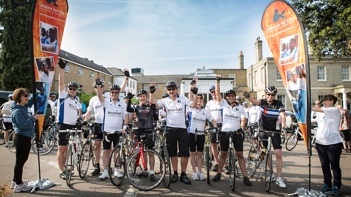 4 routes, 250 riders, 2 days - one Big Ride for Africa