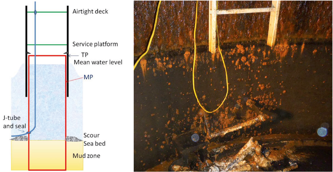 Visible corrosion of ladder, image courtesey of FORCE Technology