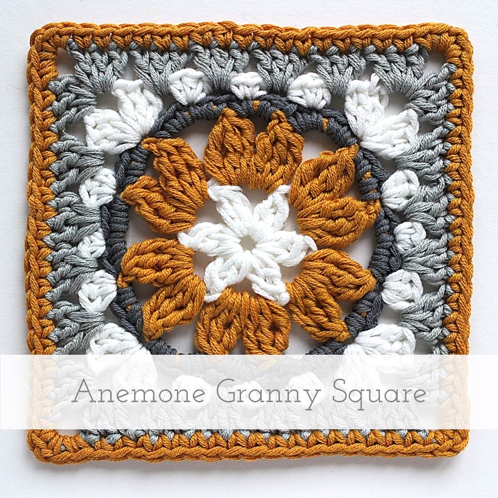 Anemone Granny Square | Free pattern + tutorial