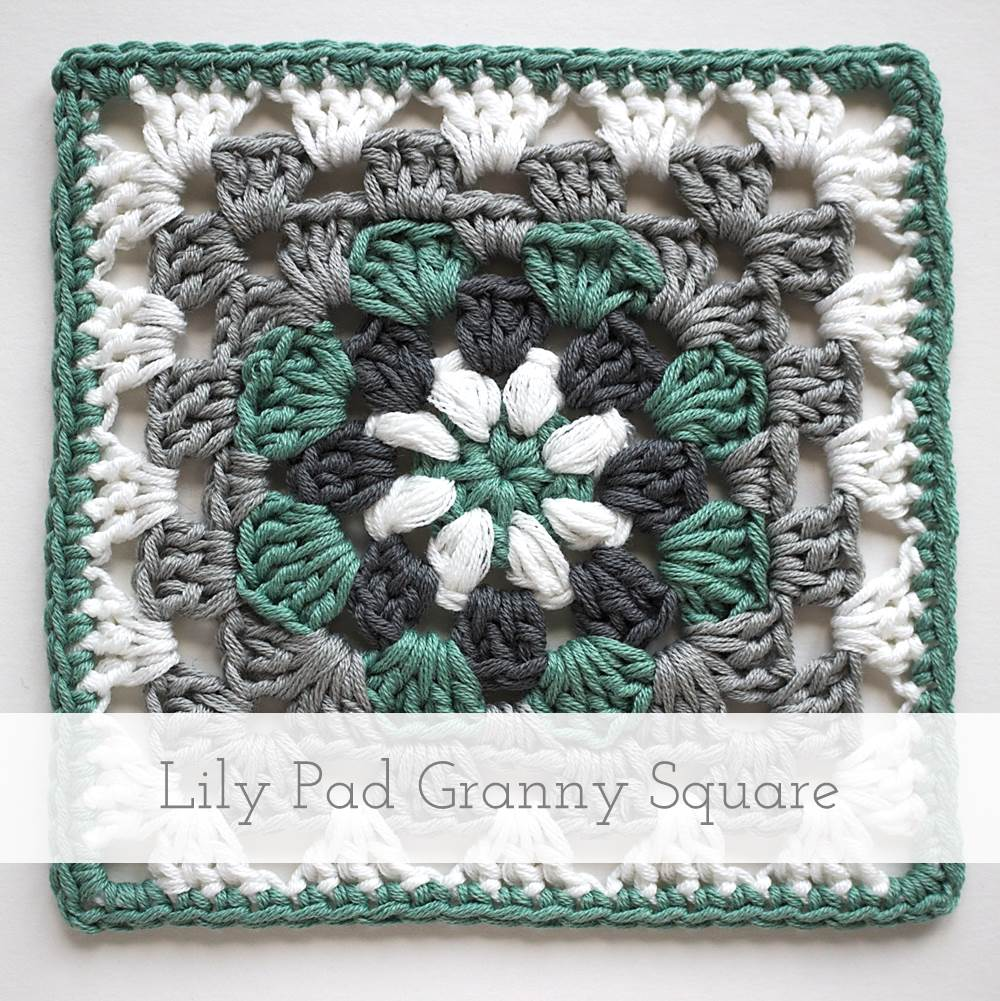 Lily Pad Granny Square | Free pattern + tutorial