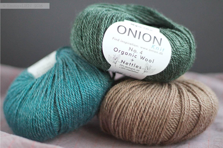Organic wool + Nettles yarn by Onion in Denmark