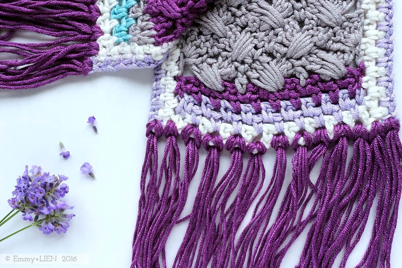 Lavender Skies - Fringed Scarf | by Eline Alcocer @ Emmy + LIEN