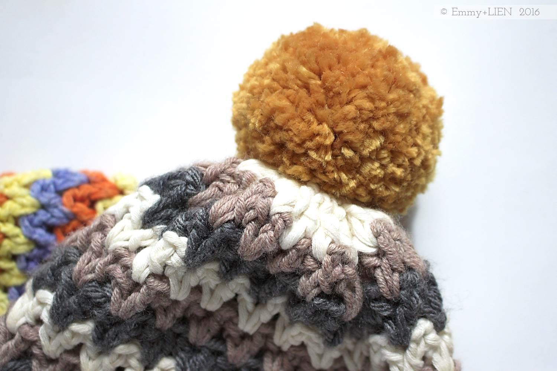 Pompom crochet beanies