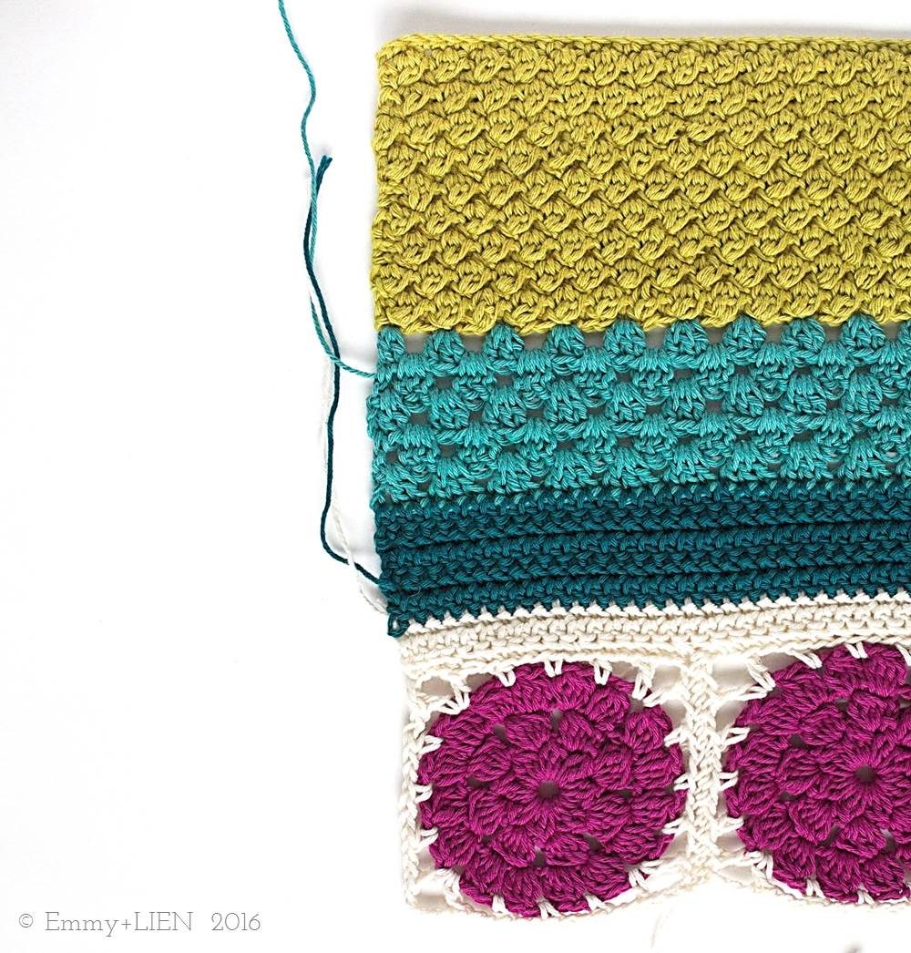 Part of the Dally Dahlia Blanket