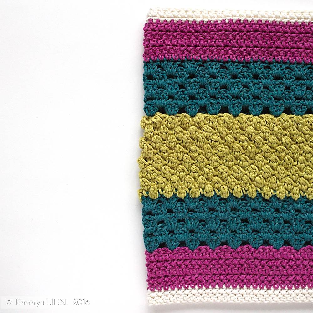 Second middle section of the Dally Dahlia Blanket | Emmy + LIEN