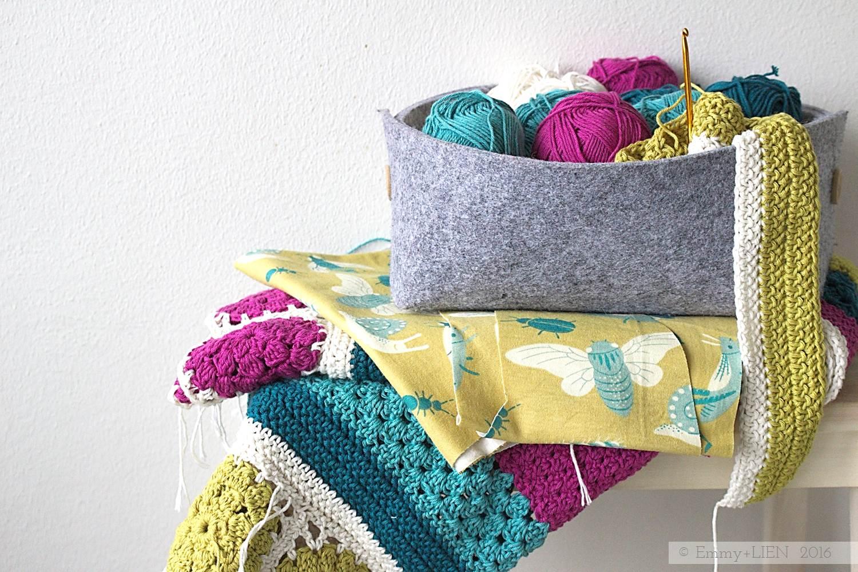 Dally Dahlia Blanket in progress | Emmy + LIEN
