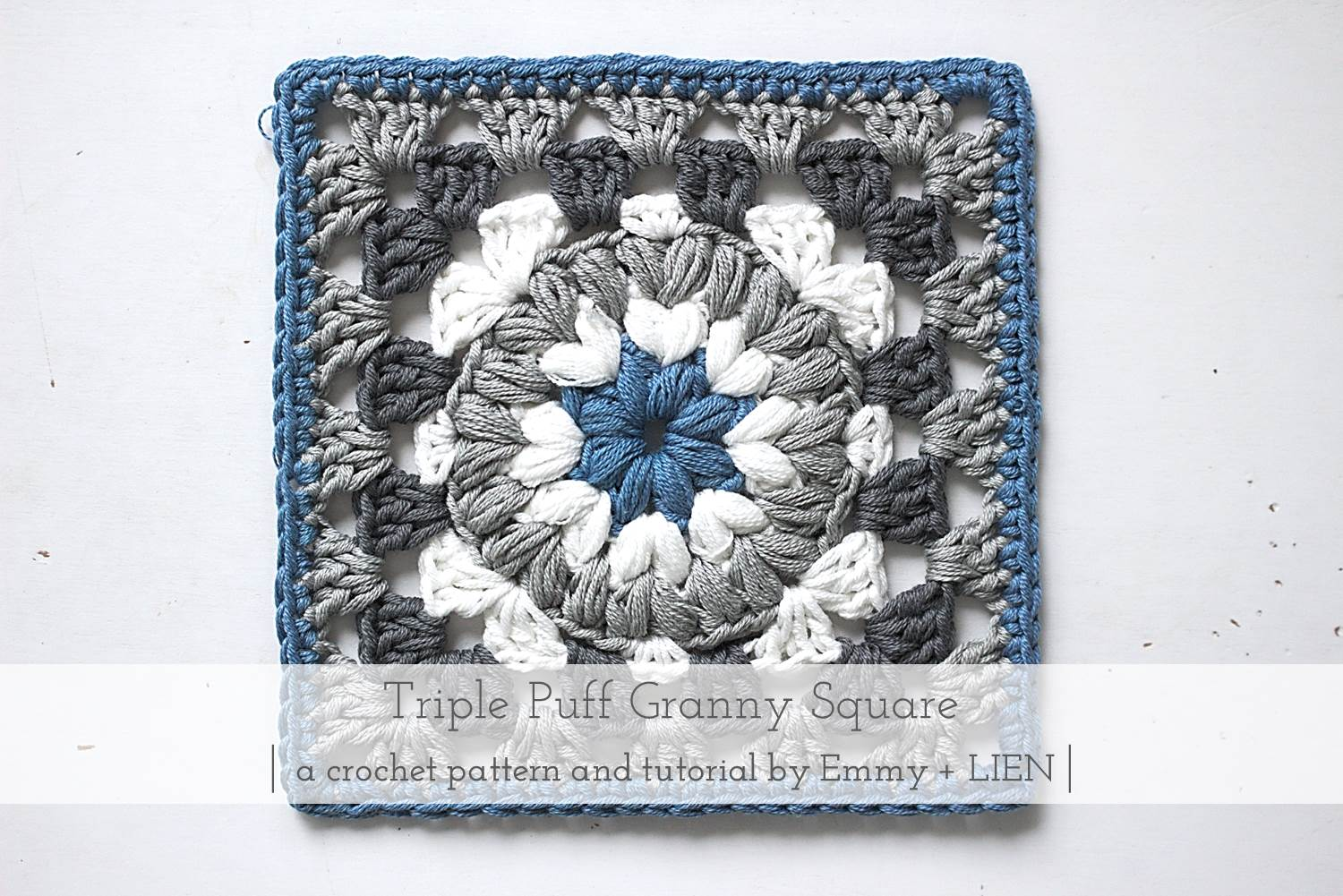 graphic about Free Printable Crochet Granny Square Patterns referred to as Practice + Guide Triple Puff Granny Sq. Emmy + LIEN