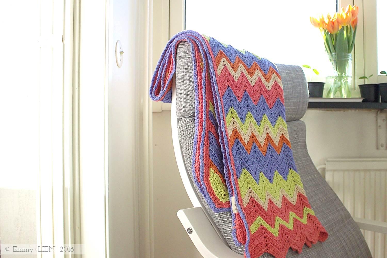 Crochet chevron blanket (inspiration only)