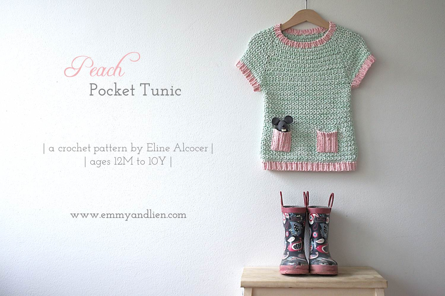Peach Pocket Tunic crochet pattern