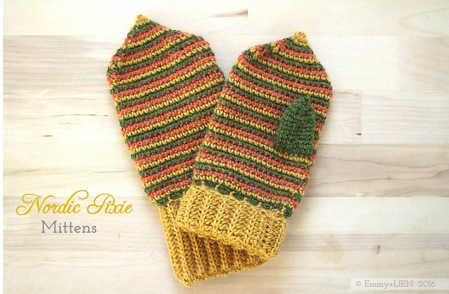 Nordic Pixie Mittens || a crochet pattern by Emmy + LIEN