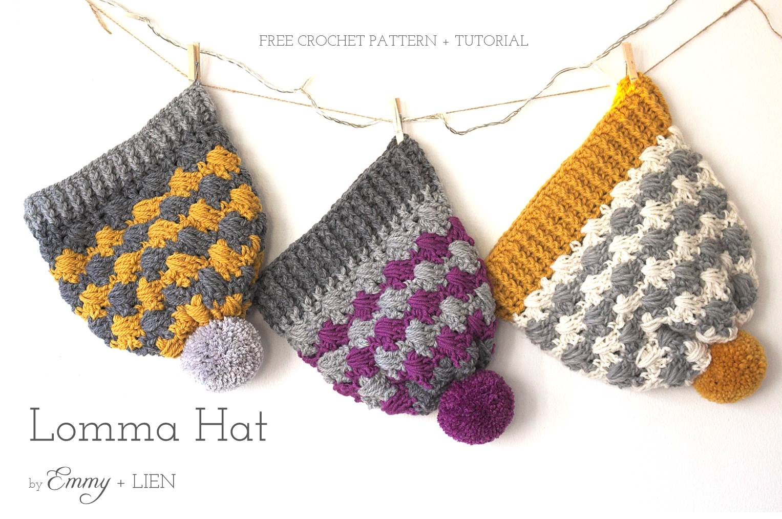 Lomma Hat | Free pattern & tutorial by Emmy + LIEN