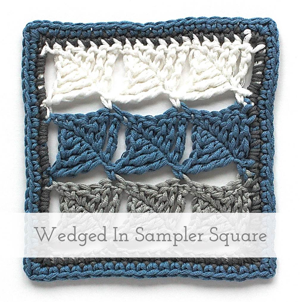 Wedged In | Wedge Stitch Crochet Tutorial + Sampler Square