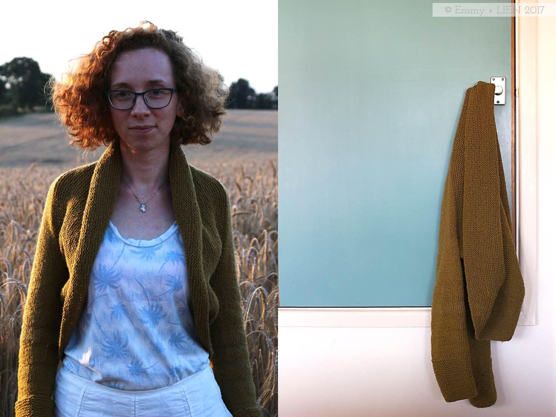 Maeve knitted shrug | design by Carie Bostick Hoge