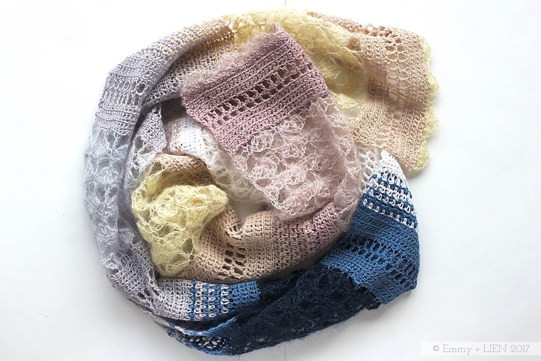 Floss scarf crochet pattern by Eline Alcocer @ Emmy + LIEN