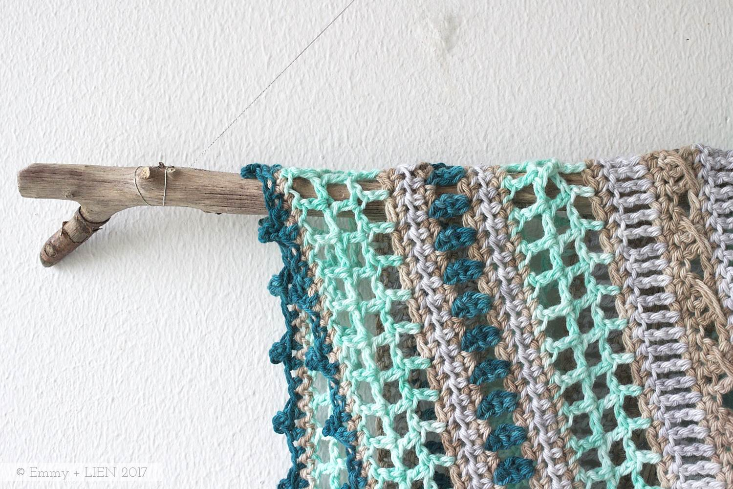 Sea Glass Shawl crochet pattern by Eline Alcocer (first published in Crochet Now issue 15)