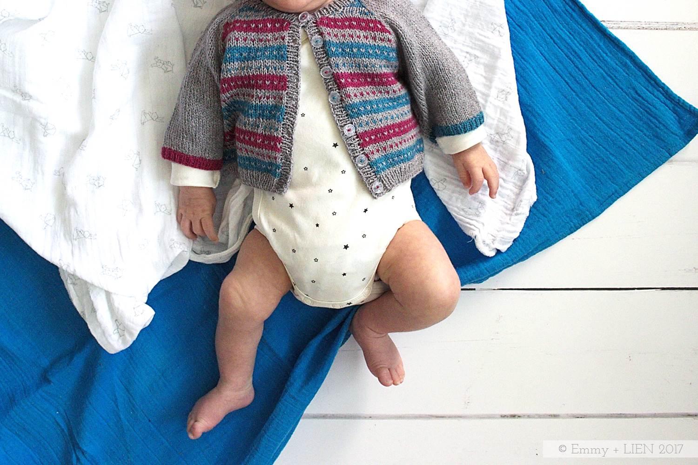 Fairisle raglan baby cardigan