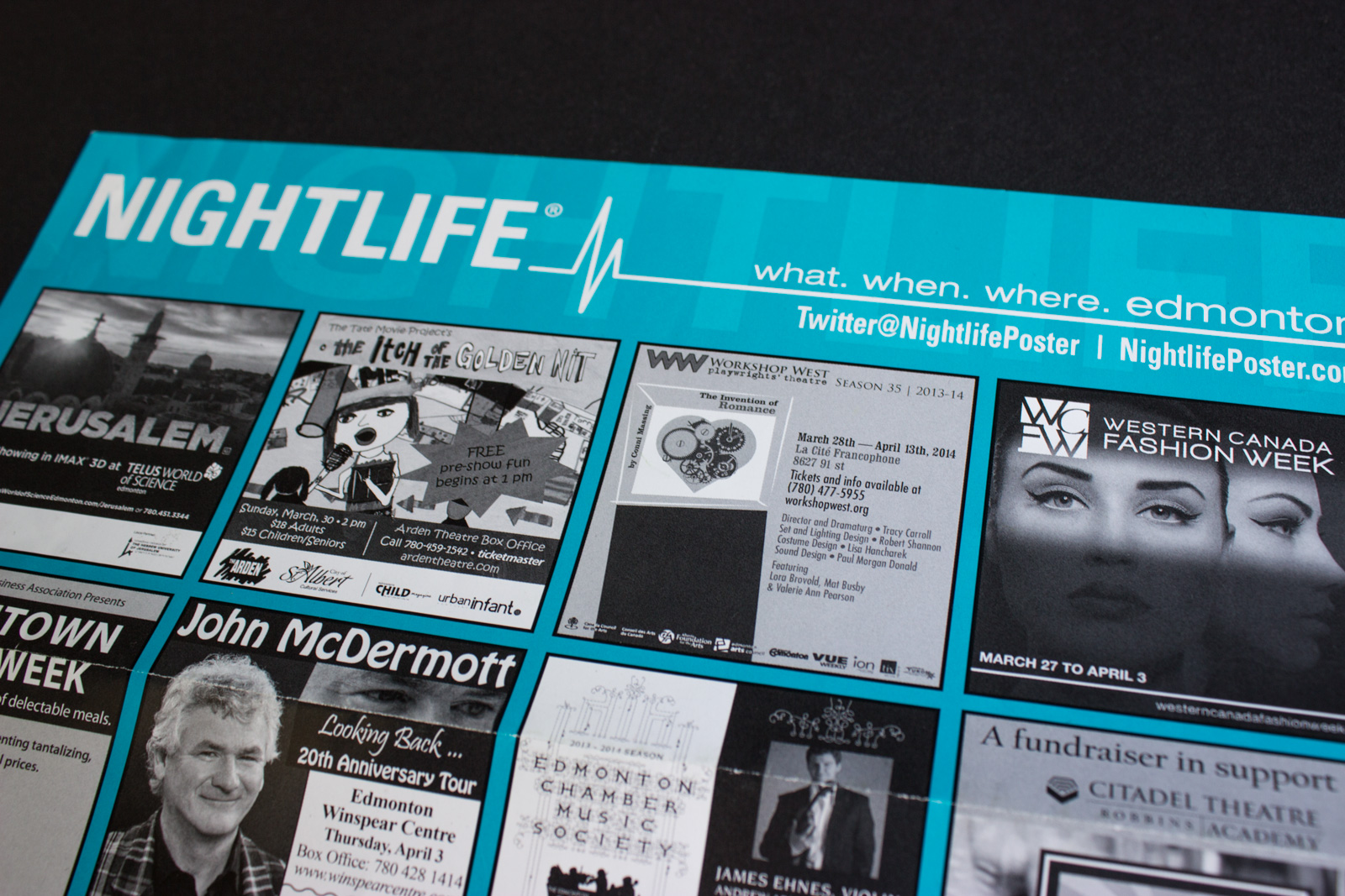 Nightlife Calendar ad