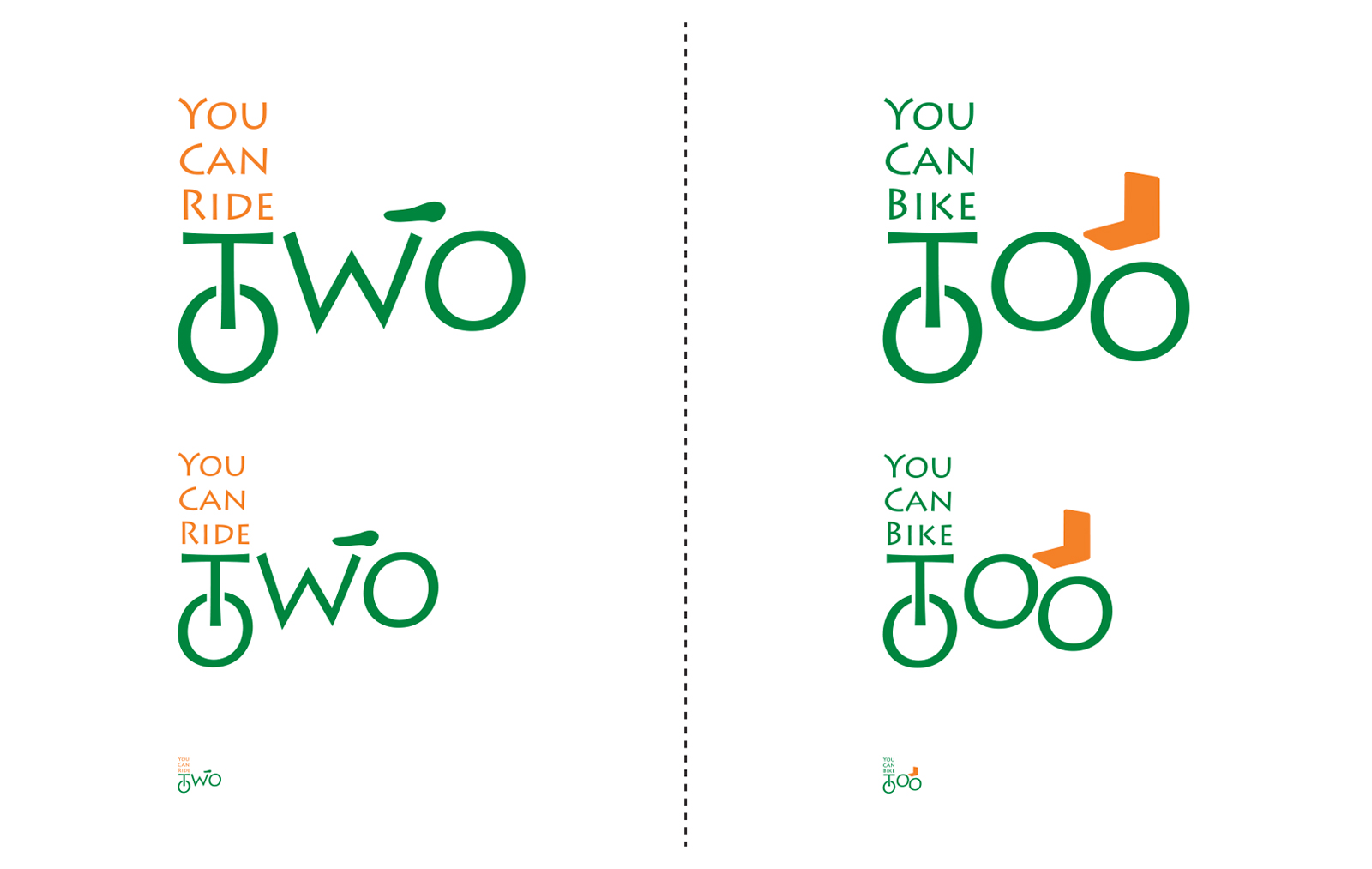 You Can Ride Two/You Can Bike Too/Logos-Reductions