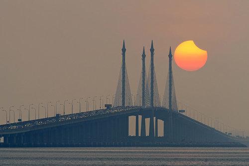 Penang sun eclipse