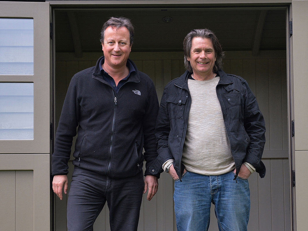 David Cameron and Paul Bennett of Red Sky Shepherds Huts