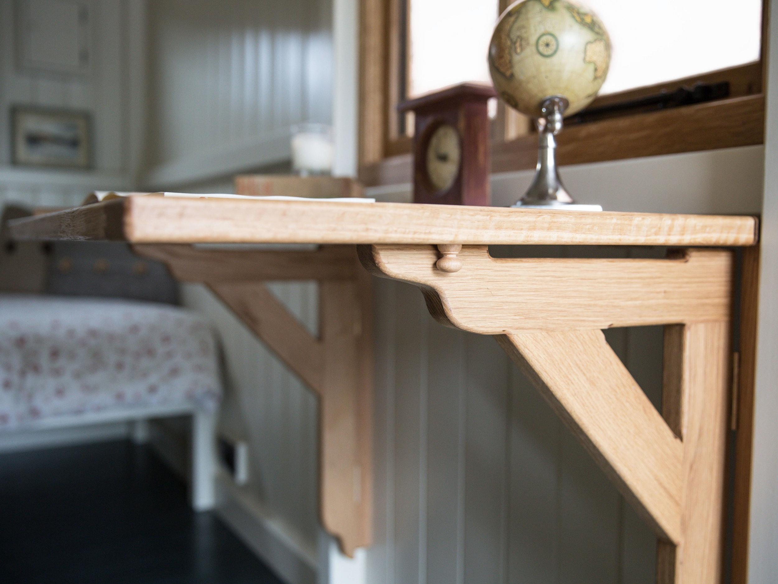shepherds huts interior tables